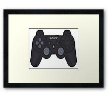 Playstation 3 Controller Framed Print