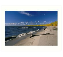 Fall on the beach Art Print