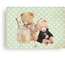 honey bees and holmes bears Canvas Print
