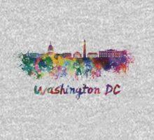 Washington DC skyline in watercolor One Piece - Long Sleeve