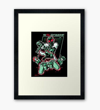 Psychokinetic Power! Framed Print