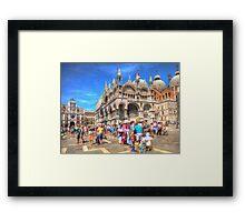 Venice Italy street vendors HDR Framed Print