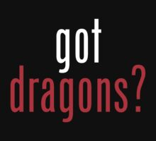 got dragons? - white&red by heatherjoy