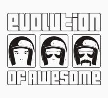 Evolution of Awesome! Baby Tee