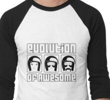 Evolution of Awesome! Men's Baseball ¾ T-Shirt