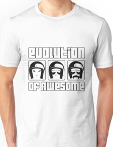 Evolution of Awesome! Unisex T-Shirt