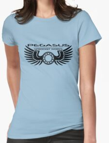 Pegasus Sprocket Works Logo Womens Fitted T-Shirt