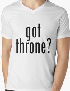got throne? - black Mens V-Neck T-Shirt