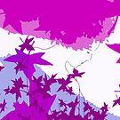 Purple and blue hearts 7 by Gunes Yilmaz