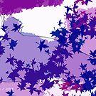 Purple and blue hearts 8 by Gunes Yilmaz