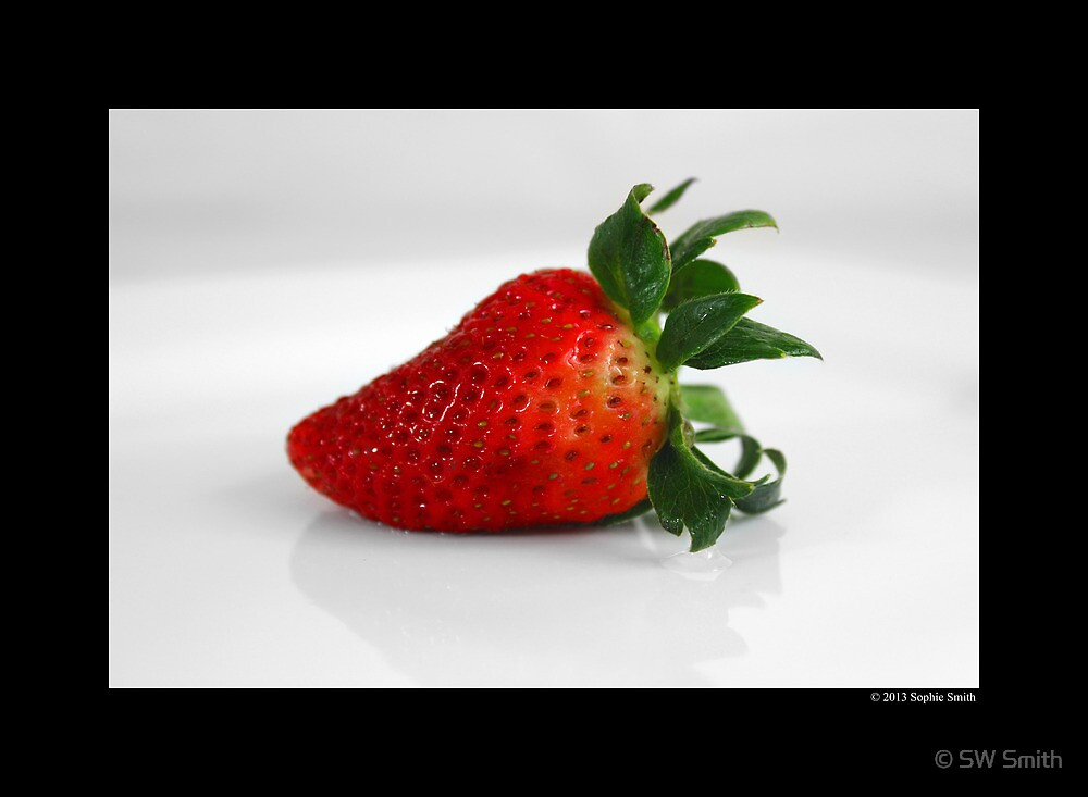 Fragaria x Ananassa - Fresh Garden Strawberry by © Sophie W. Smith