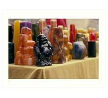 Wax Budda Art Print