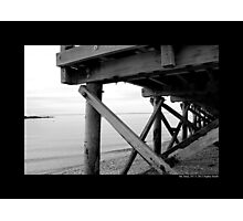 Cedar Town Beach Wooden Pier Detail - Mt. Sinai, New York  Photographic Print
