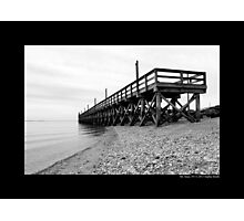Cedar Town Beach Wooden Pier Construction - Mount Sinai, New York Photographic Print