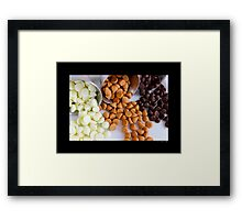 Nestle Premier White, Butter-Scotch And Milk Chocolate Morsels Framed Print