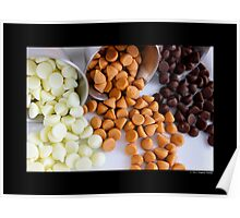 Nestle Premier White, Butter-Scotch And Milk Chocolate Morsels Poster
