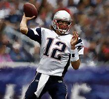New England Patriots Tom Brady by art-hammer
