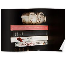 Teacups and Books Poster