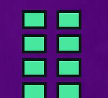 Green and White - Purple background by aussiecandice