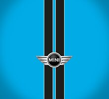 Laser Blue Black stripes-ipad by mrmini