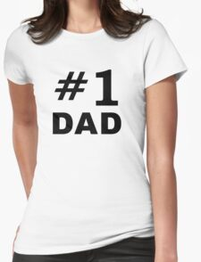 Number One Dad Womens Fitted T-Shirt