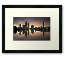 Smooth Glow Framed Print