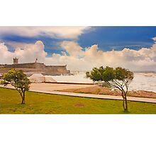 Forte de S.Julião. algae tide. Photographic Print