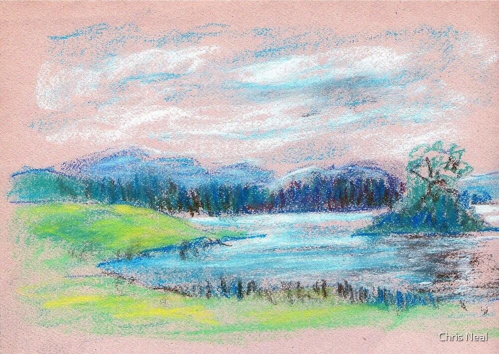 Pastel Landscape sketch by Chris Neal