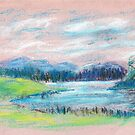 Pastel Landscape sketch by Chris Neal