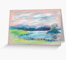 Pastel Landscape sketch Greeting Card
