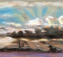 Pastel sketch of clouds by ChrisNeal