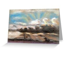 Pastel sketch of clouds Greeting Card