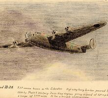 "Consolidated B-24 ""the Liberator"" pencil sketch by ChrisNeal"