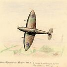 "Vickers Supermarine ""Spitfire"" sketch by ChrisNeal"