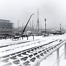 Bristol harbor in snow by Arvind Singh