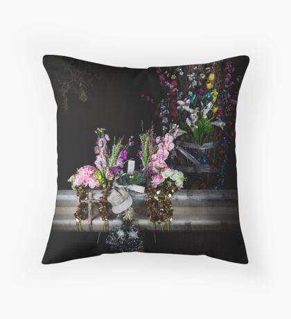 Roadside memorials #8 Throw Pillow