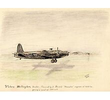 Vickers Wellington pencil sketch Photographic Print