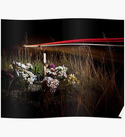 Roadside memorials #10 Poster