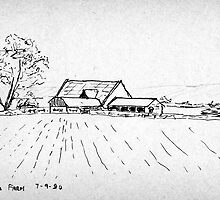 Cotswold Farm pen sketch by ChrisNeal