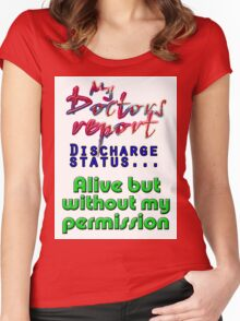 DISCHARGE STATUS Women's Fitted Scoop T-Shirt