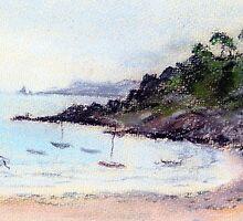 Port Mer oil pastel sketch by Chris Neal