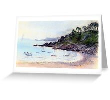 Port Mer oil pastel sketch Greeting Card