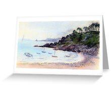Port Mer oil pastel sketch Greeting Card