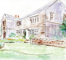 Country house pastel sketch  by ChrisNeal