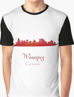 Winnipeg skyline in red Graphic T-Shirt