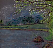 River and countryside pastel sketch by ChrisNeal