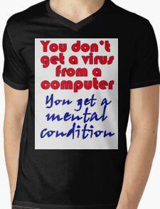 VIRUS Mens V-Neck T-Shirt