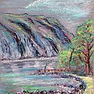 Lake district landscape pastel sketch by Chris Neal
