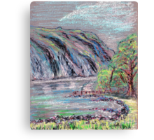 Lake district landscape pastel sketch Canvas Print