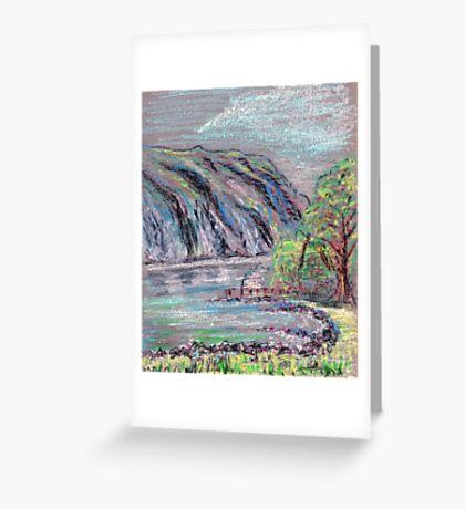 Lake district landscape pastel sketch Greeting Card